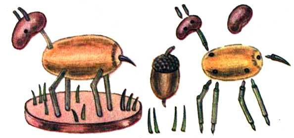Поделки из плодов шиповника - Козлик