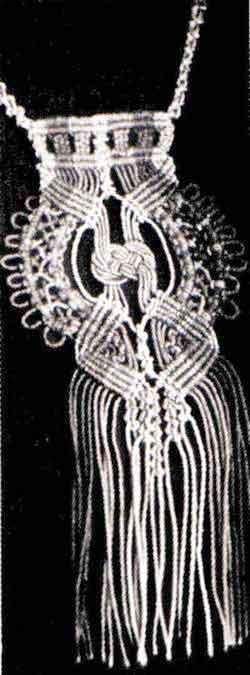 Плетеный кулон - макраме