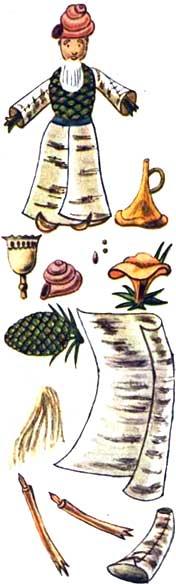 Поделки из бересты - старик Хоттабыч