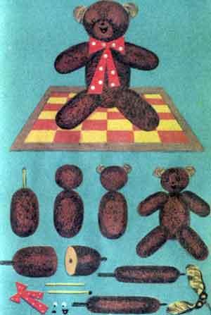 Поделки из рогоза - Мишка