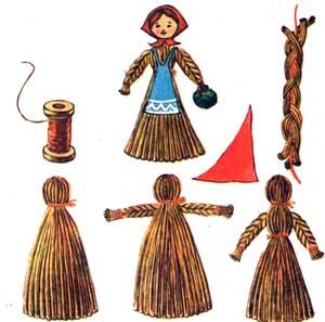 Поделки из соломы - Куклы