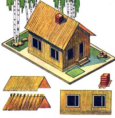 Поделка - Соломенный домик