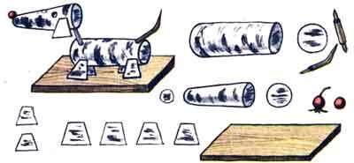 Поделки из бересты - Собачка Тобик