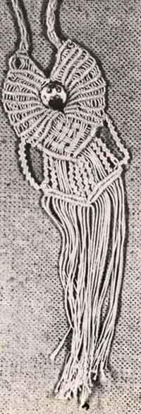 Плетёный Кулончик - макраме