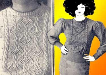 Схема вязания на спицах (женский джемпер, свитер)