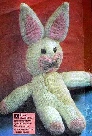 Игрушка зайчик - вязанный