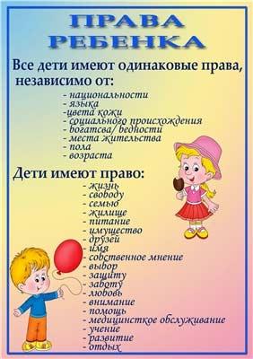 Конспект занятия (НОД) для подготовительной группы «Ваши права, дети».