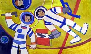 Конспект занятия «Юные космонавты»