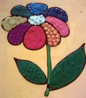 Мастер-класс пластилинография Цветик-семицветик