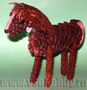 Конь Сивка - Бурка из природного материала