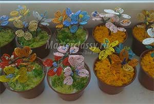 Подарок для мамочки Техника: Бисероплетение цветов