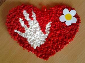 Поделка к 8 Марта «Сердечко»
