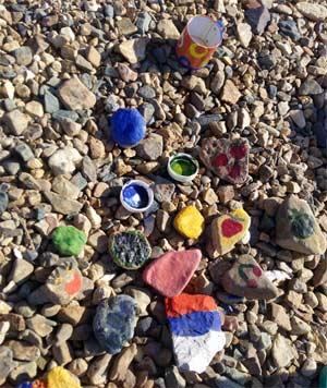 Занятия с детьми летом на пляже Красим и фантазируем