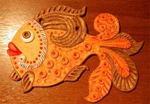 Конспект занятия Золотая рыбка по тестопластике для детей старшего возраста