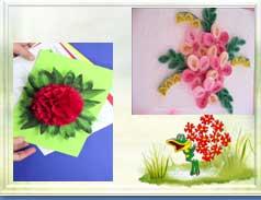 Конспект открытого занятия на тему «Технология изготовления цветка методом торцевания на пластилине»
