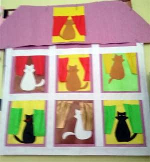 Аппликация «Кошкин дом»