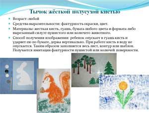 МАСТЕР-КЛАСС «Развитие творческих способностей дошкольников в изобразительной деятельности, посредством применением нетрадиционных методов и приёмов рисования».
