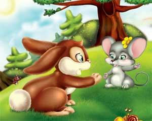 Сказка о том, как зайчонок учился быть добрее.