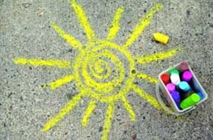Методическая разработка: «Рисование мелками на асфальте с дошкольниками с ОВЗ (интеллектуальной недостаточностью)»