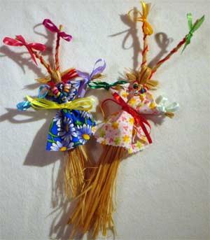 Мастер — класс по изготовлению тряпичной куклы «Рождественская обрядовая кукла — Коза»