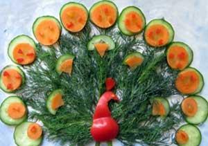 Поделки из овощей и фруктов.