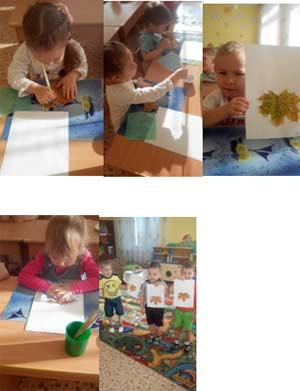"""Изобразительная деятельность: аппликация из гербария кленового листа с рисованием красками """"Совушка-сова"""" в средней группе детского сада."""