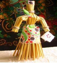 Образовательно–познавательная деятельность: «Необычные куклы из соломы».