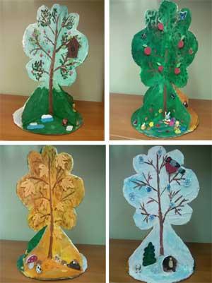 Дидактический материал для ДОУ: дерево Времена года