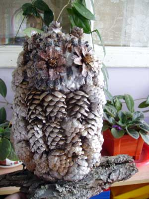 Поделки из природного материала Совушка сова