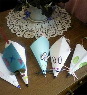 Поделки из бумаги Мышки