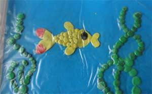 Пластилинография Рыбки в аквариуме