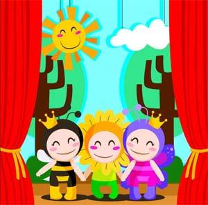 Творческие игры и театрализованные упражнения в процессе общения с детьми.