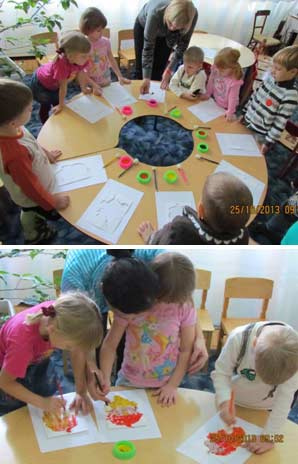 Конспект художественно – эстетического интегрированного занятия «Осенние листья» (старшая возрастная группа).