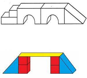 Конспект НОД открытого занятия по конструированию из строительного материала для детей старшей группы «Мост для Буратино»