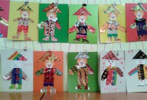 Конспект НОД аппликация в подготовительной группе, из бросового материала (конфетные фантики) на тему «Веселый клоун»