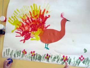 Нетрадиционная техника рисования «Печать ладошками» в разновозрастной группе №2 (3-5 лет)