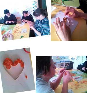Мастер – класс с родителями по технике «Квиллинг» на тему: «Подарю тебе свое сердце»