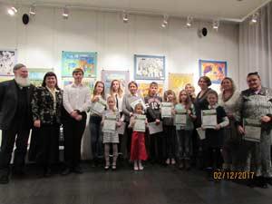 с 2 по 8 декабря в Арт-галерее Романовых прошла выставка детского художественного творчества Снегири, посвященная экологии.