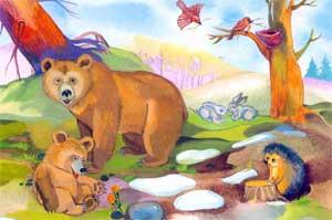 Сказка «Первая весна медвежонка»