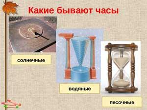 Конспект занятия на тему: «Часы — какими они бывают»