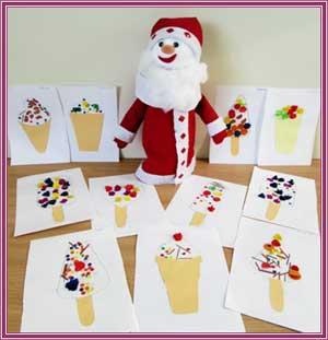Конспект занятия для воспитанников старшей возрастной группы по аппликации «Угощение для Деда Мороза»