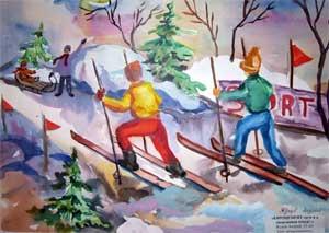 Спортивное развлечение совместно с родителями зимой «Спорт и Я — верные друзья»