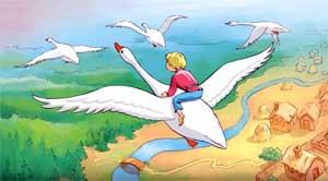 Конспект занятия по математике в средней группе: Путешествие в сказку «Гуси-лебеди» (поможем сестре отыскать братца).