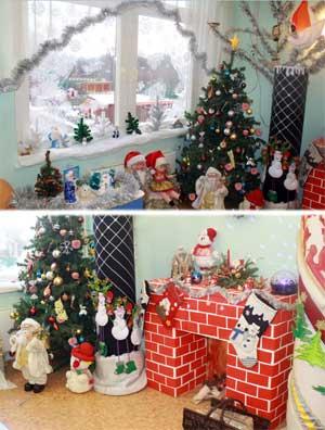 Новогоднее оформление группы «Рождественский зимний вечер»