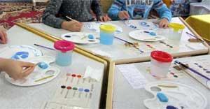 Конспект открытого занятия по рисованию в старшей дошкольной группе воспитателя Бурдиной М.Н. «Гжельские узоры»