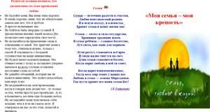 Буклет «Моя семья – моя крепость»