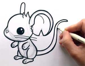 Ориентировка на листе бумаги (подготовительная группа) «Поиграем вместе с мышкой»