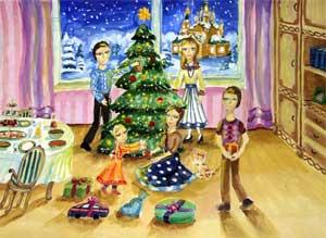 Семейный праздник Рождество