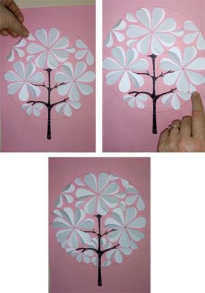 Мастер-класс по объёмной аппликации в технике «Бумагопластика» (из вырезанных сердечек) «Волшебное деревце»