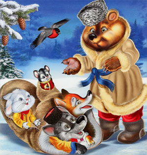 Сценарий новогоднего утренника для детей младшего дошкольного возраста «Рукавичка»